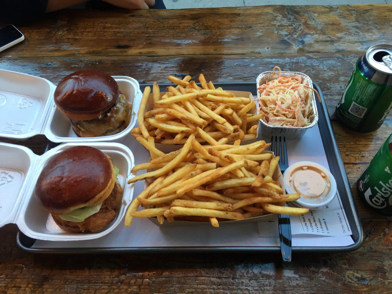 burger, chips, street food, Jager Copenhagen