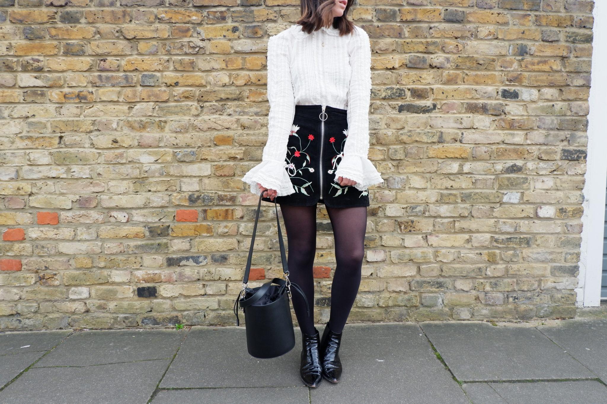 H&M, Lace Shirt, Studio, fashion, style, suede