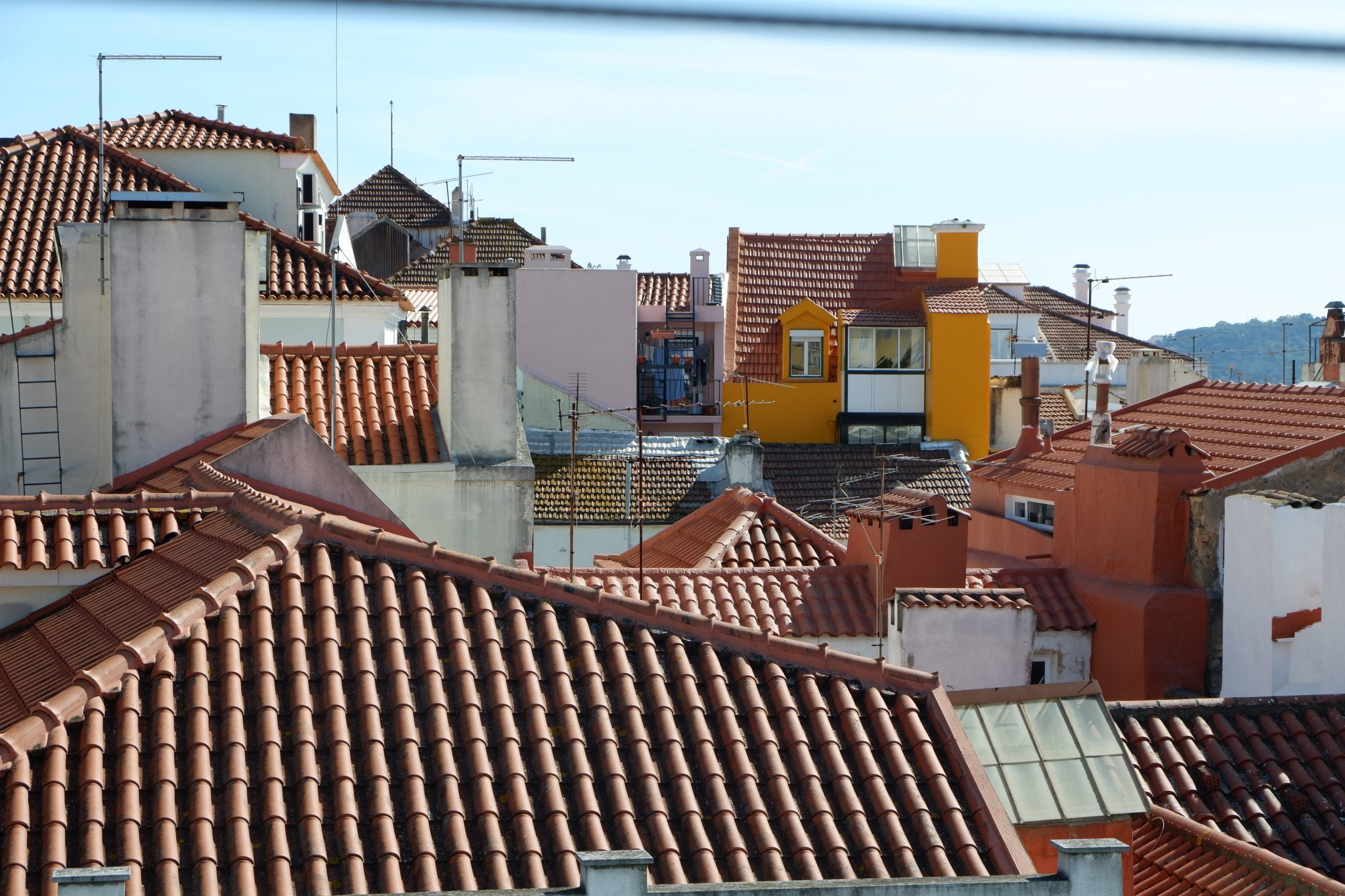 Lisbon, Portugal, colourful houses