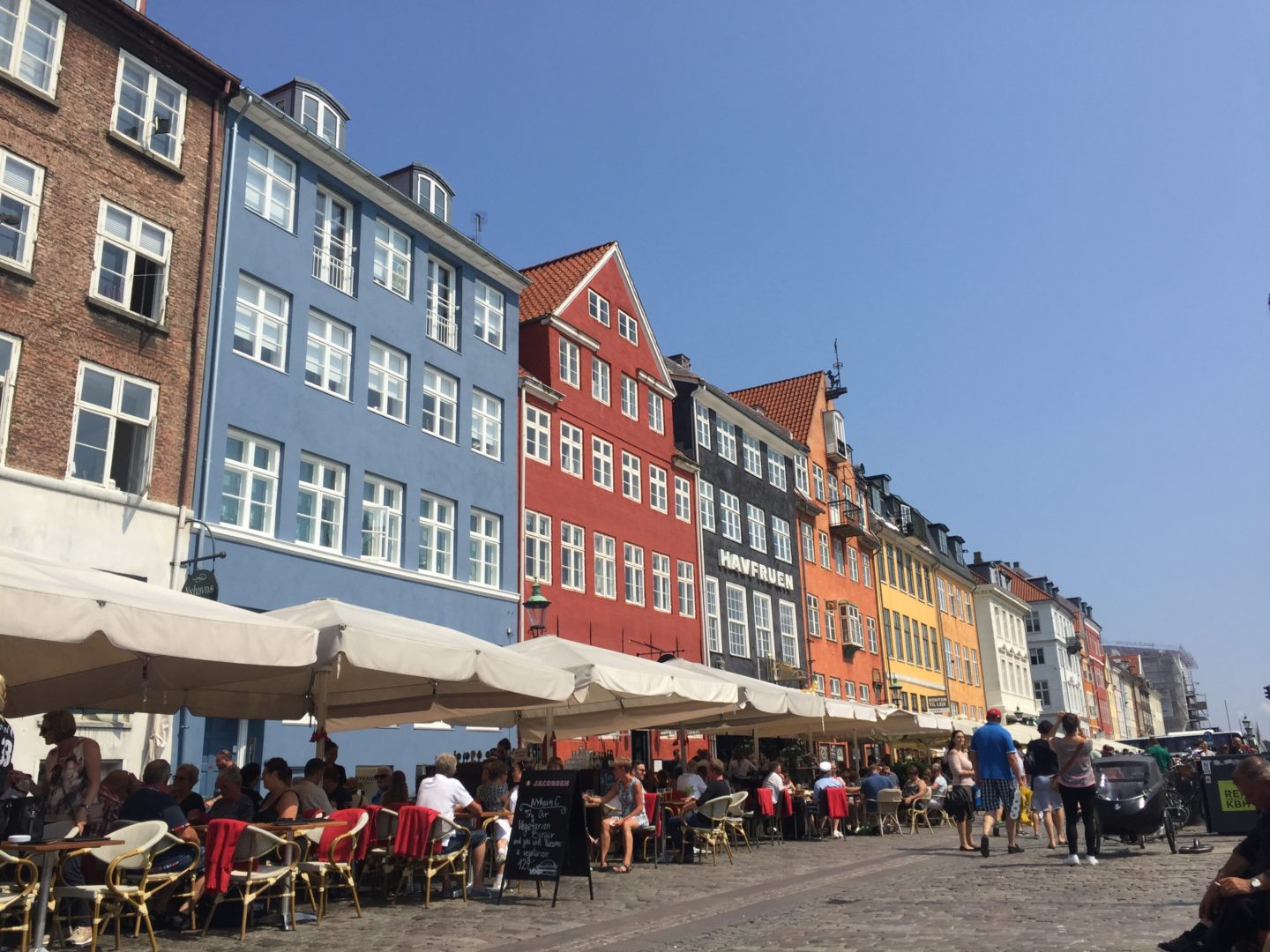 Nyhavn harbour, coloured houses