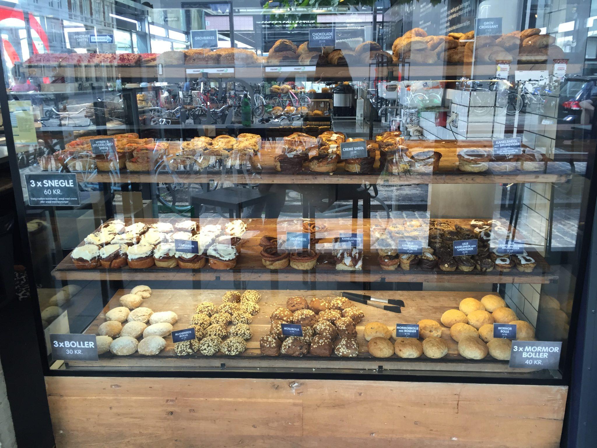 Fresh bakery, bread, cinnamon bun