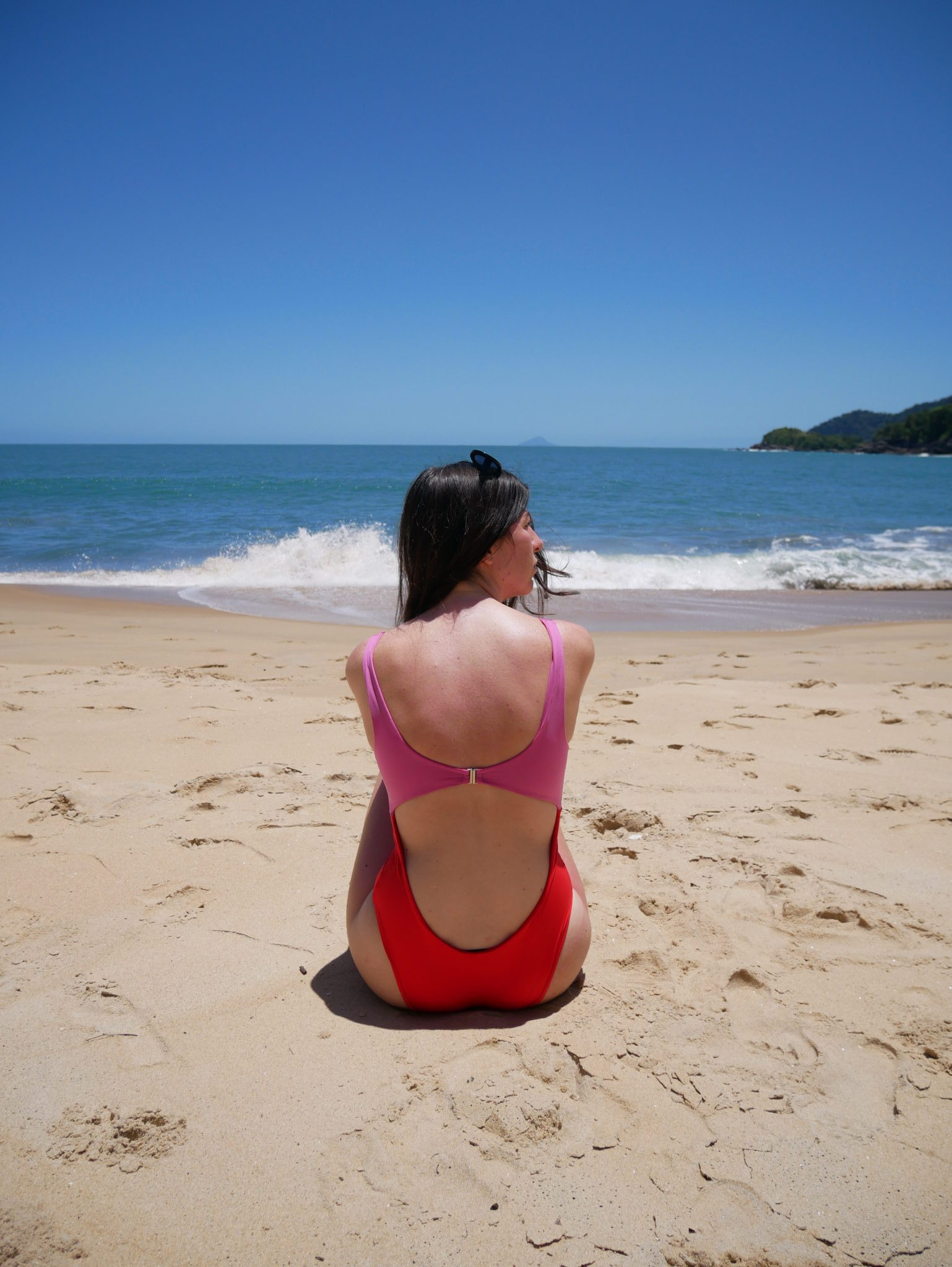 Beach at Toque Toque Grande<br/> Swimsuit: Zara
