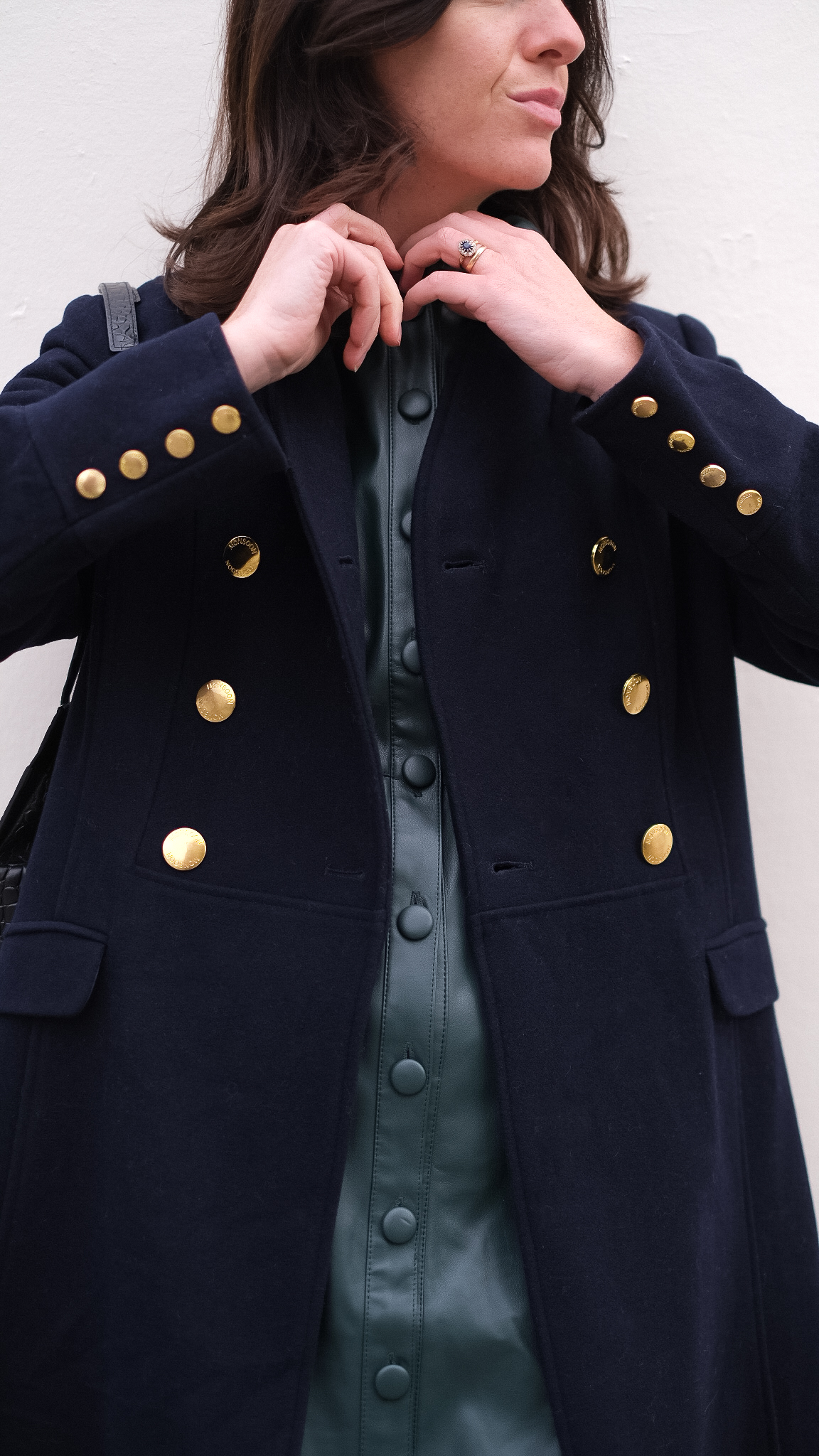 monsoon aline military coat